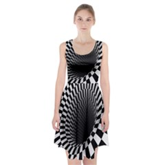 Optical Illusions Racerback Midi Dress