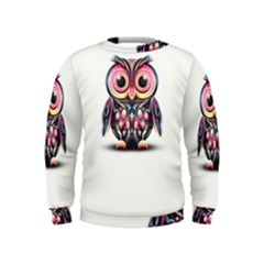 Owl Colorful Kids  Sweatshirt