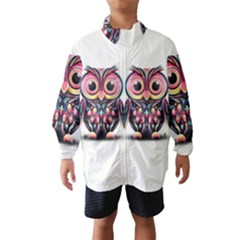 Owl Colorful Wind Breaker (Kids)