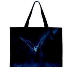 Night Owl Wide Zipper Mini Tote Bag