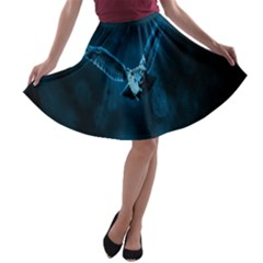 Night Owl Wide A-line Skater Skirt