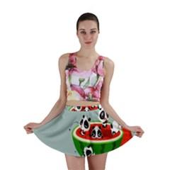 Panda Watermelon Mini Skirt