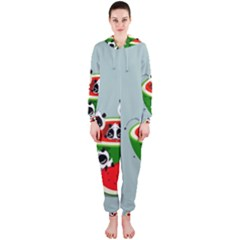 Panda Watermelon Hooded Jumpsuit (Ladies)
