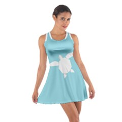 Pet Turtle Paper Origami Cotton Racerback Dress