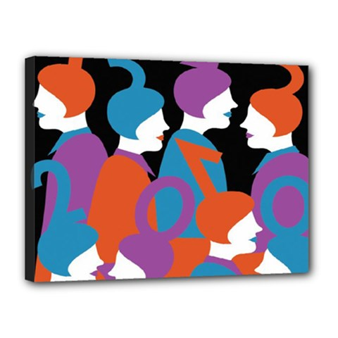 People Canvas 16  x 12