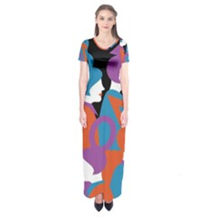 People Short Sleeve Maxi Dress