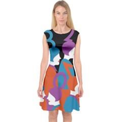 People Capsleeve Midi Dress