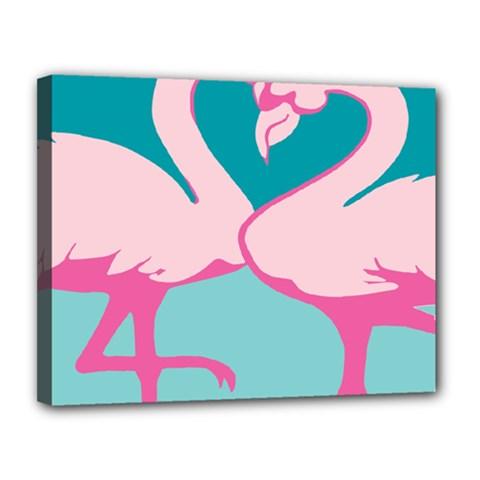 Pink Flamengo Canvas 14  x 11