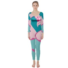 Pink Flamengo Long Sleeve Catsuit