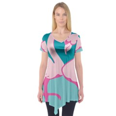 Pink Flamengo Short Sleeve Tunic