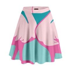 Pink Flamengo High Waist Skirt