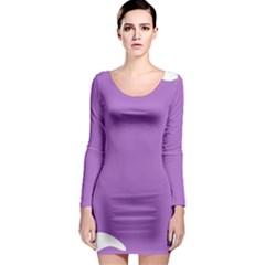 Purple Long Sleeve Bodycon Dress