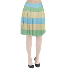 Romantic Flags Pleated Skirt
