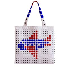 Plane Zipper Grocery Tote Bag