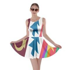 Star Color Skater Dress
