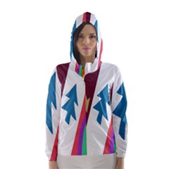 Star Color Hooded Wind Breaker (Women)