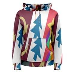 Star Color Women s Pullover Hoodie