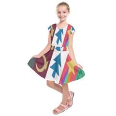 Star Color Kids  Short Sleeve Dress