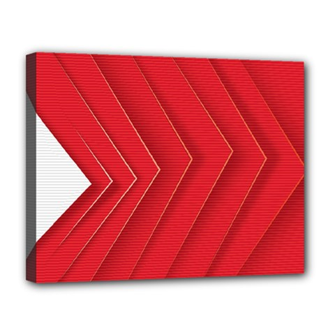 Rank Red White Canvas 14  x 11