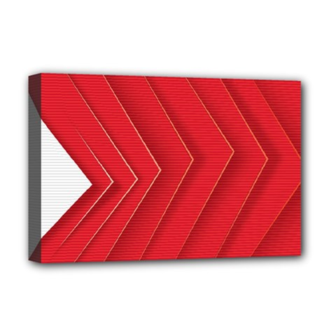 Rank Red White Deluxe Canvas 18  x 12