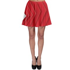 Rank Red White Skater Skirt
