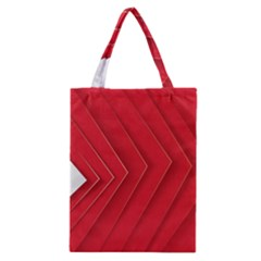 Rank Red White Classic Tote Bag