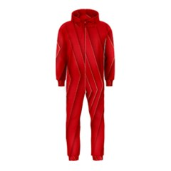 Rank Red White Hooded Jumpsuit (Kids)