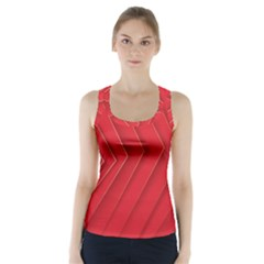 Rank Red White Racer Back Sports Top