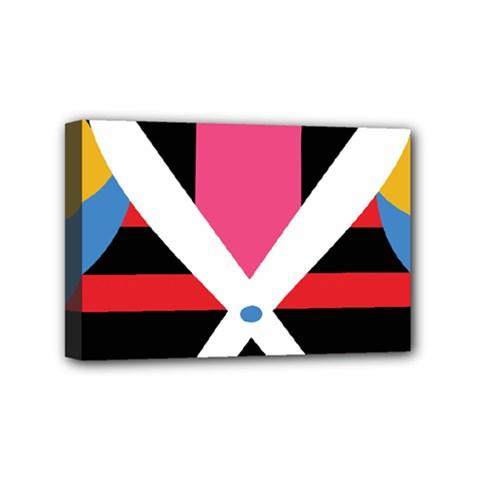 Scissors Tongue Mini Canvas 6  x 4