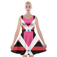 Scissors Tongue Velvet Skater Dress