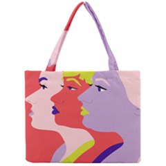 Three Beautiful Face Mini Tote Bag