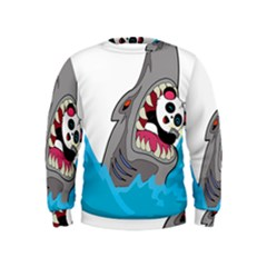 Panda Sharke Blue Sea Kids  Sweatshirt