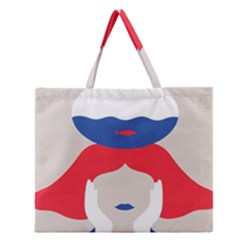 Woman Zipper Large Tote Bag