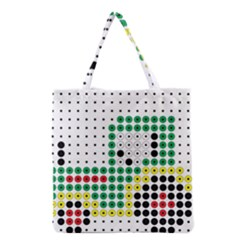 Tractor Perler Bead Grocery Tote Bag