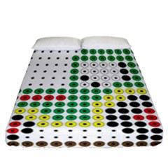 Tractor Perler Bead Fitted Sheet (California King Size)