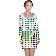 Tractor Perler Bead Long Sleeve Nightdress