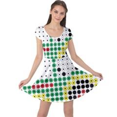 Tractor Perler Bead Cap Sleeve Dresses