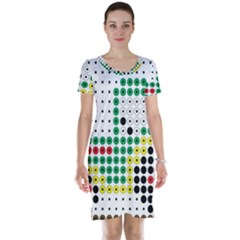 Tractor Perler Bead Short Sleeve Nightdress