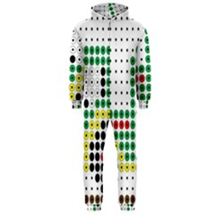 Tractor Perler Bead Hooded Jumpsuit (Men)