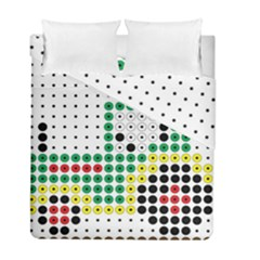 Tractor Perler Bead Duvet Cover Double Side (Full/ Double Size)