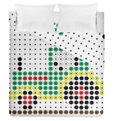Tractor Perler Bead Duvet Cover Double Side (Queen Size)
