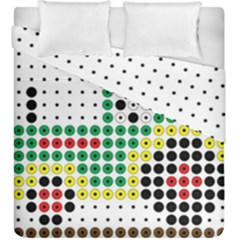 Tractor Perler Bead Duvet Cover Double Side (King Size)