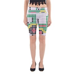 Tractor Perler Bead Yoga Cropped Leggings