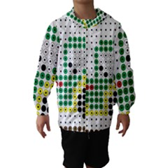 Tractor Perler Bead Hooded Wind Breaker (Kids)