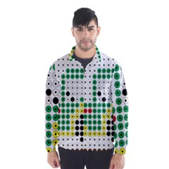 Tractor Perler Bead Wind Breaker (Men)