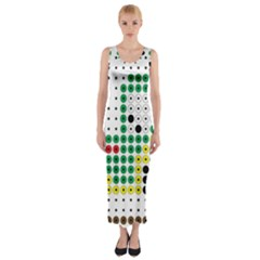 Tractor Perler Bead Fitted Maxi Dress