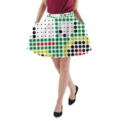 Tractor Perler Bead A-Line Pocket Skirt