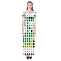 Tractor Perler Bead Short Sleeve Maxi Dress