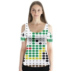Tractor Perler Bead Butterfly Sleeve Cutout Tee