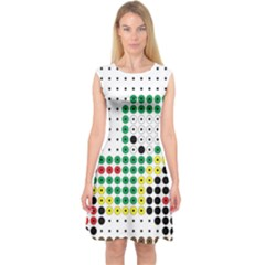 Tractor Perler Bead Capsleeve Midi Dress